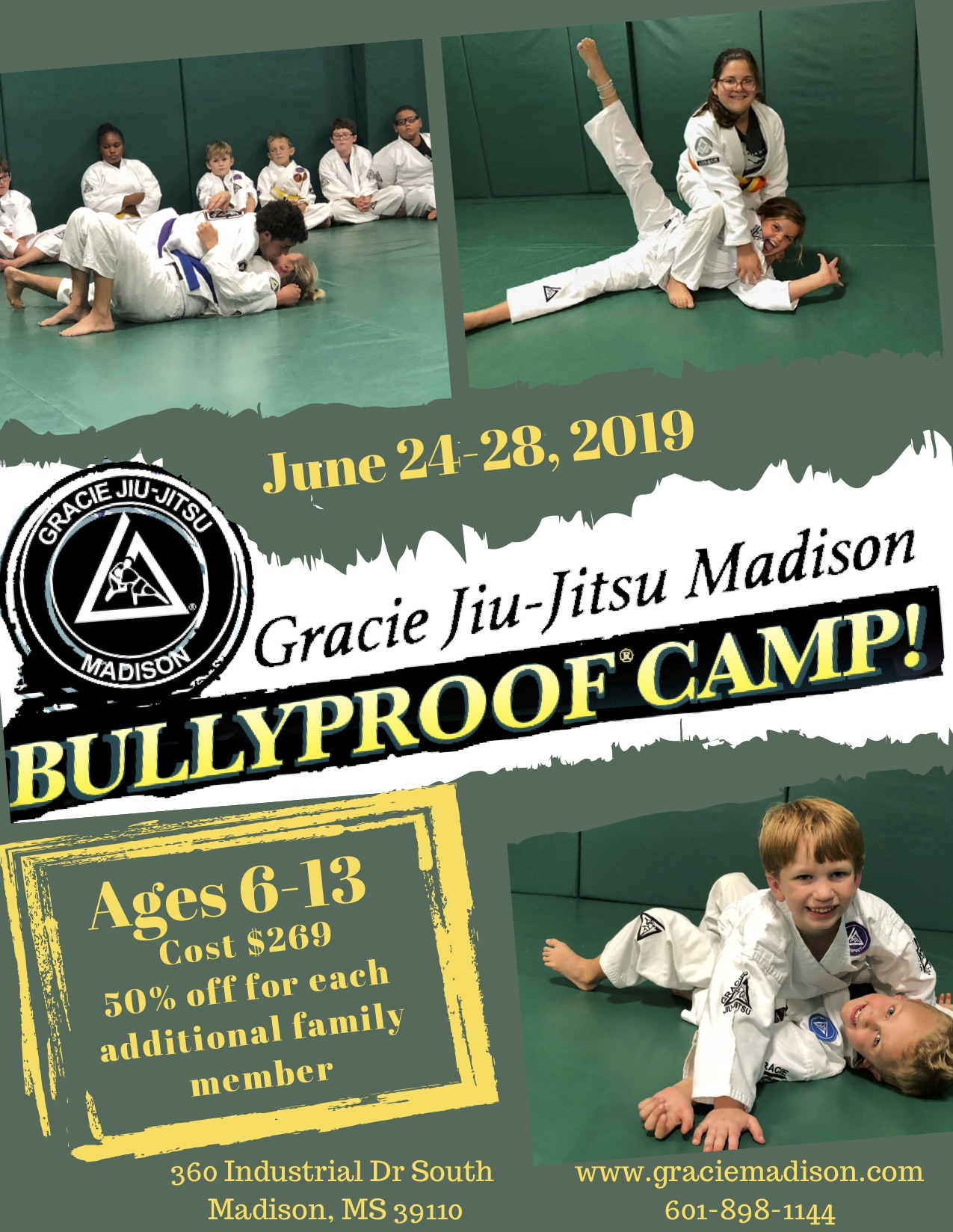 Gracie BULLYPROOF Summer Camp 2019 - June 24 -28, 2019